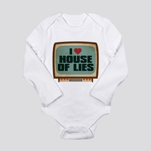 Retro I Heart House of Lies Long Sleeve Infant Bod