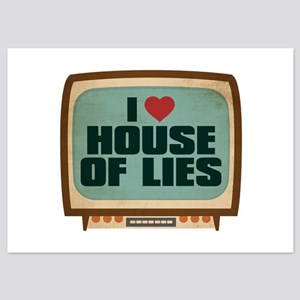 Retro I Heart House of Lies 5x7 Flat Cards