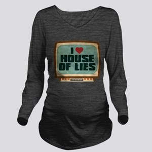 Retro I Heart House of Lies Long Sleeve Maternity
