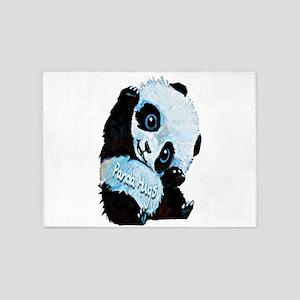 Panda Hugs 5'x7'Area Rug