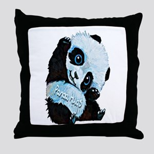 Panda Hugs Throw Pillow
