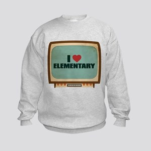 Retro I Heart Elementary Kids Sweatshirt