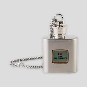 Retro I Heart The Goldbergs Flask Necklace