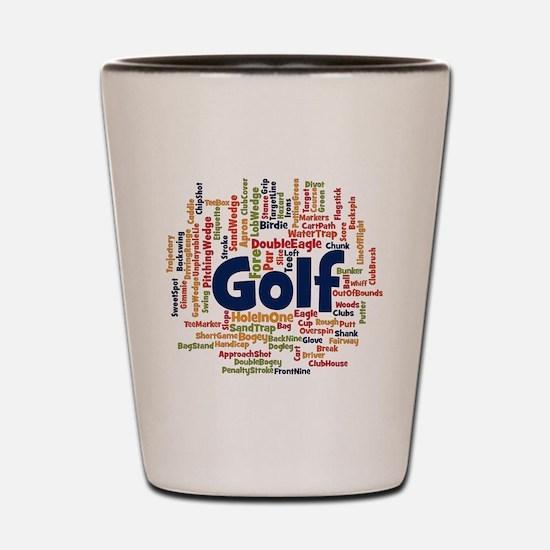 Cute Golfer Shot Glass