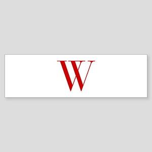 W-bod red2 Bumper Sticker