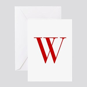 W-bod red2 Greeting Cards