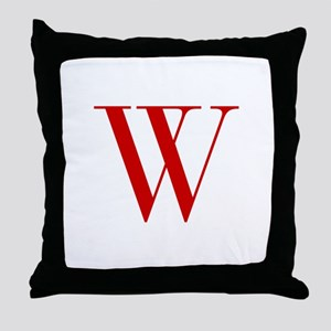 W-bod red2 Throw Pillow