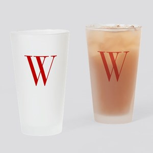 W-bod red2 Drinking Glass