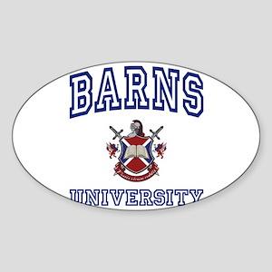 BARNS University Oval Sticker