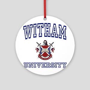 WITHAM University Ornament (Round)
