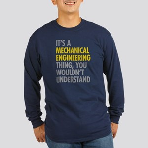 Mechanical Engineering Th Long Sleeve Dark T-Shirt