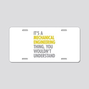 Mechanical Engineering Thin Aluminum License Plate