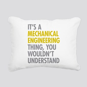 Mechanical Engineering T Rectangular Canvas Pillow