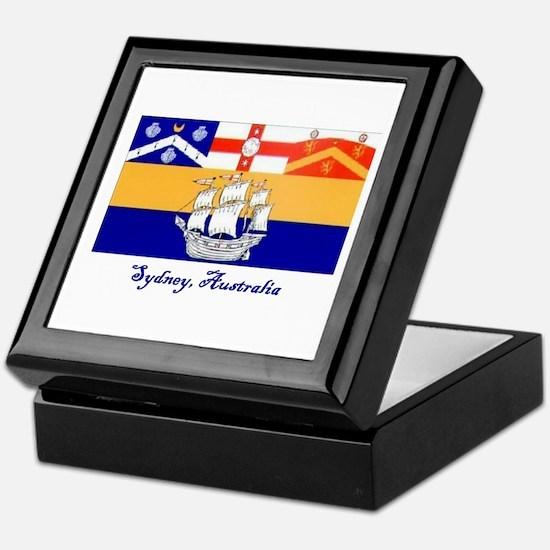 Sydney, AU Flag Keepsake Box