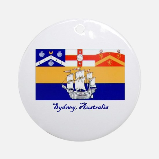 Sydney, AU Flag Ornament (Round)