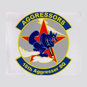 18th_aggressor Throw Blanket