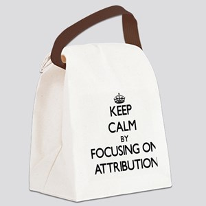 Keep Calm by focusing on Attribut Canvas Lunch Bag