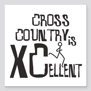 """XC Cross Country Square Car Magnet 3"""" x 3"""""""