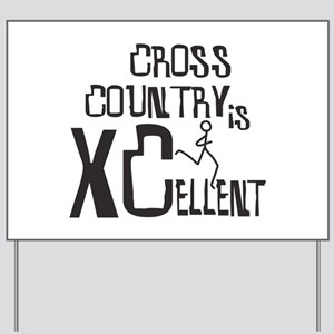 XC Cross Country Yard Sign