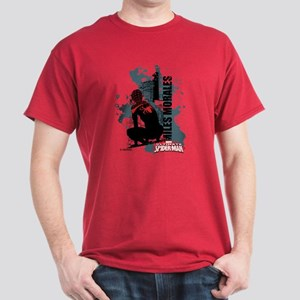 Ultimate Spider-Man Miles Morales Sil Dark T-Shirt