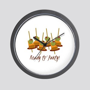 Ready to Party Wall Clock