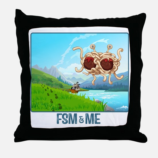 Cute Fsm Throw Pillow