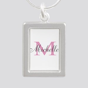 Personalized pink monogram Necklaces