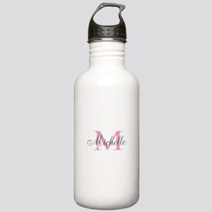 Personalized pink monogram Water Bottle