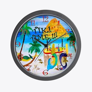 Tiki time wall clock Wall Clock