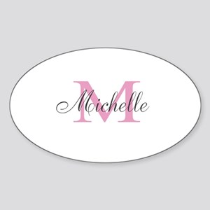 Personalized pink monogram Sticker