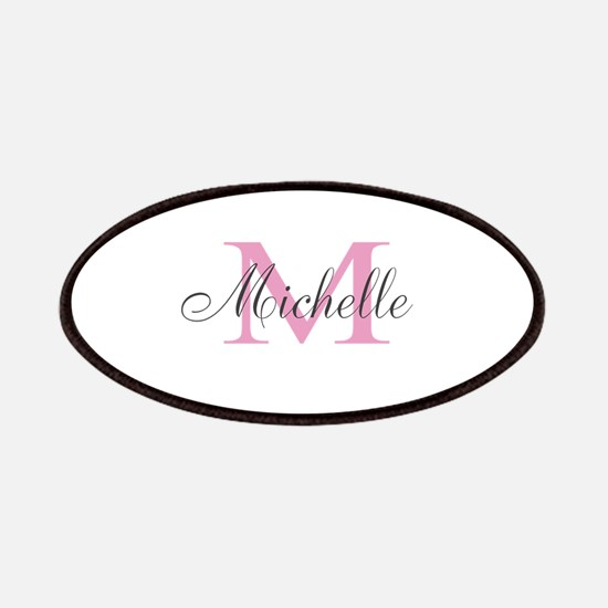 Personalized pink monogram Patches