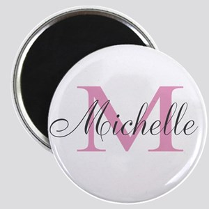 Personalized pink monogram Magnets