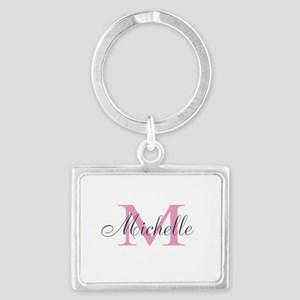 Personalized pink monogram Keychains