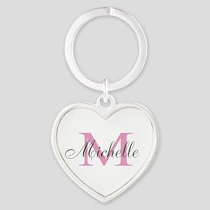 Personalized pink monogram Keychains