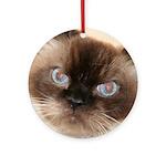 Himalayan Cat Ornament (Round)