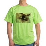 Himalayan Cat Green T-Shirt