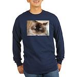 Himalayan Cat Long Sleeve Dark T-Shirt