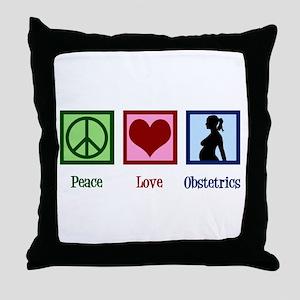Obstetrician Throw Pillow