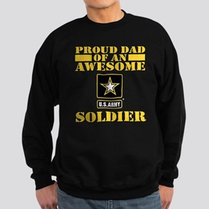 Proud U.S. Army Dad Sweatshirt (dark)