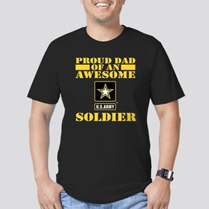Proud U.S. Army Dad Men's Fitted T-Shirt (dark)