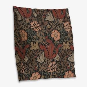 William Morris Compton Burlap Throw Pillow