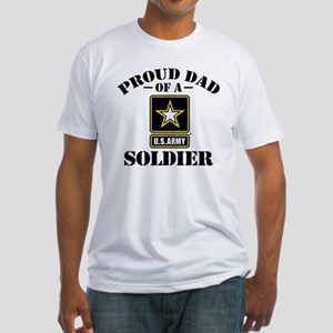 Proud U.S. Army Dad Fitted T-Shirt