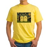 Starry Night / 2 Bolognese Yellow T-Shirt