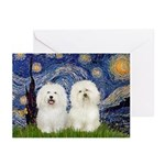 Starry Night / 2 Bolognese Greeting Cards (Pk of 1