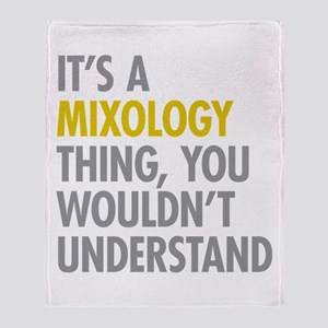 Its A Mixology Thing Throw Blanket