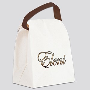Gold Eleni Canvas Lunch Bag