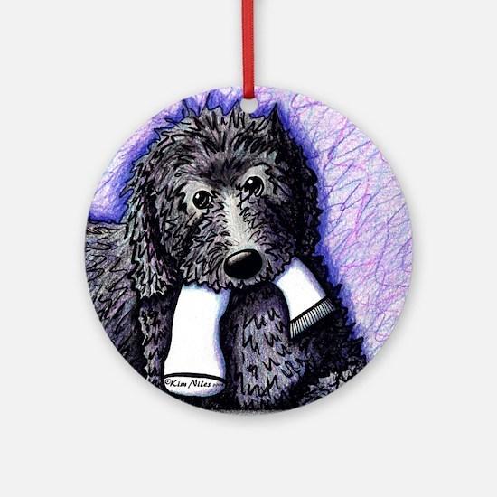 Black Doodle Dog w/ Sock Ornament