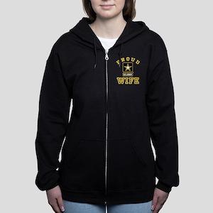 Proud U.S. Army Wife Zip Hoodie