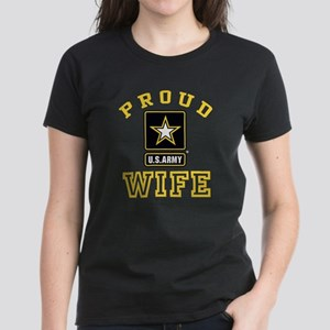 Proud U.S. Army Wife Women's Dark T-Shirt