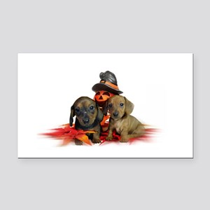 Halloween Dachshunds Rectangle Car Magnet